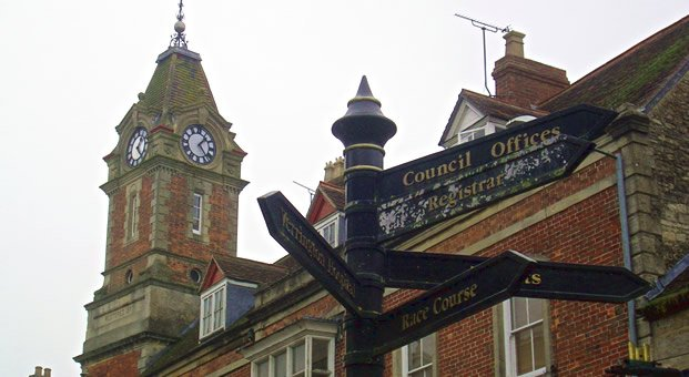 Wincanton Town Hall Clock Tower - Market Place